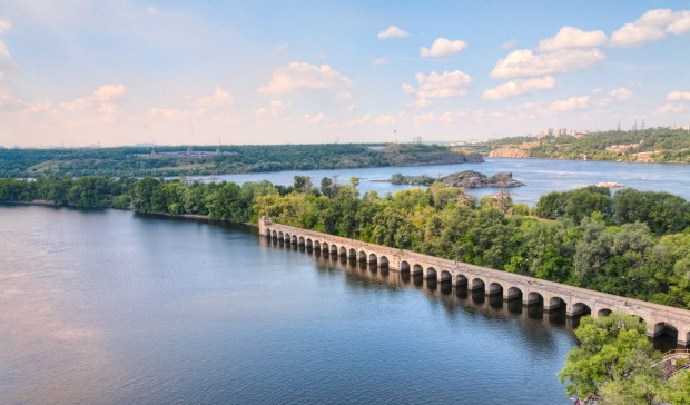 DNIEPER RIVER: One of the great rivers of Europe, central to Viking and Cossack history, flows mostly through Ukraine ...