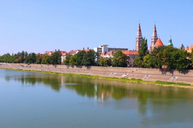 TISZA RIVER: The Tisza River, which flows north-south through Hungary before joining the Danube in Serbia, has only ...