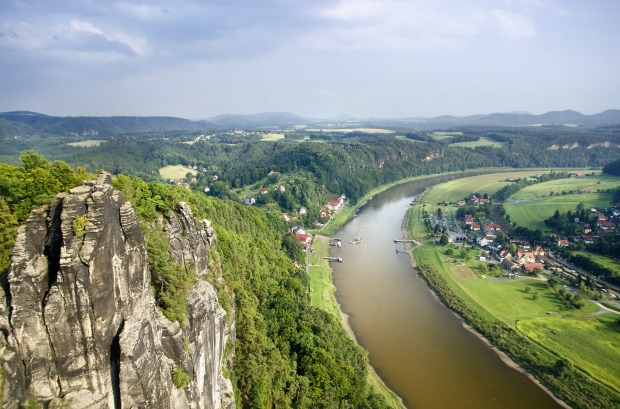 ELBE RIVER: This compact river winds through the Czech Republic and eastern Germany, and its soaring sandstone cliffs ...