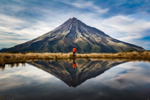 Taranaki volcano, North Island, New Zealand.