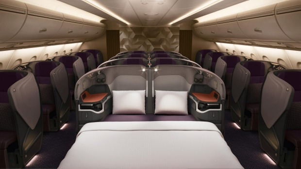 No.3 - Singapore Airlines. Pictured: Singapore's A380 superjumbo business class.