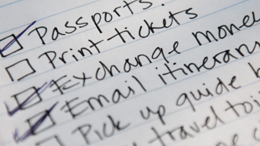 Tip: Keep your holiday plans on track with a checklist.