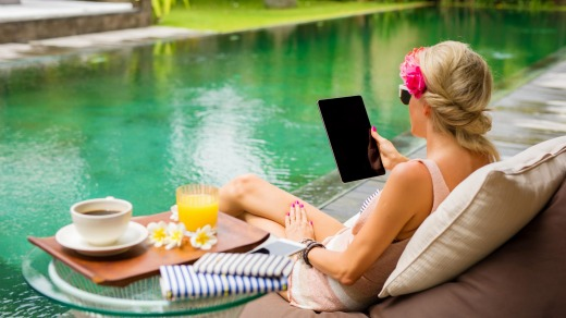 Planning ahead for your holiday means you won't forget creature comforts, such as an your iPad.