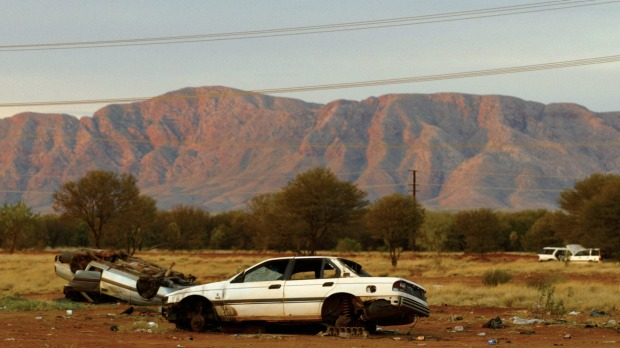 Papunya, Northern Territory, the closest town to Australia's Pole of Inaccessibility.