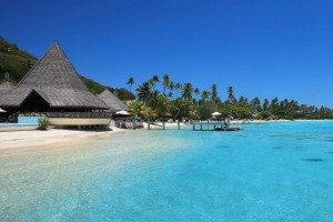 The clear waters around Sofitel Moorea Ia Ora Beach Resort, Tahiti.