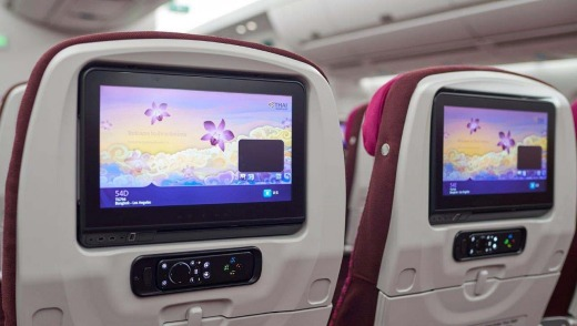 The in-flight entertainment has over 1000 hours of movies, short films, games, music, news and information.