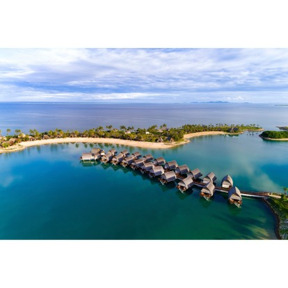 Marriott Fiji Momi Bay: Overwater villas? Tick. Adults-only pool overlooking the dreamy Coral Sea? Tick. Languid lagoon, ...