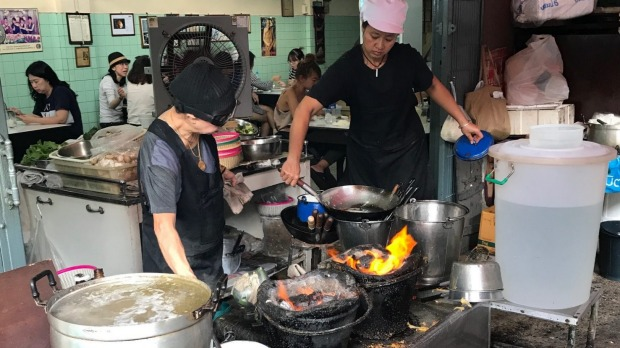 Inside Raan Jay Fai, the street food stall awarded a Michelin star in Bangkok.