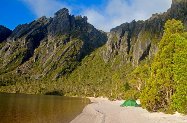 If you want sandy beaches, you head to Tasmania's east coast, right? Or how about a sandy beach high in a remote ...
