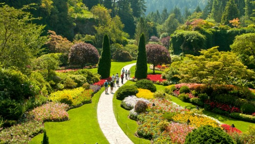 Beautiful Butchart Gardens.