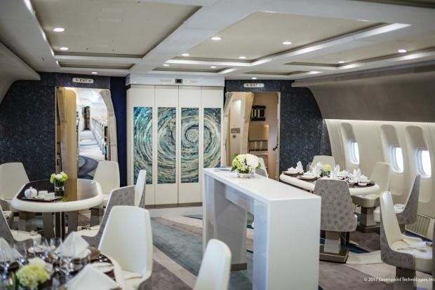 Crystal Skye Boeing 777 private jet.
