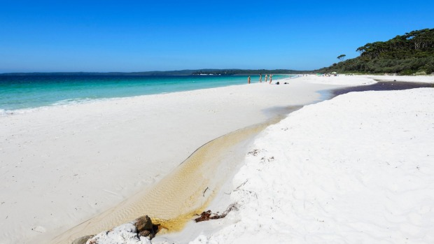 Hyams Beach is a spectacular stretch of Jervis Bay with fine white sand.