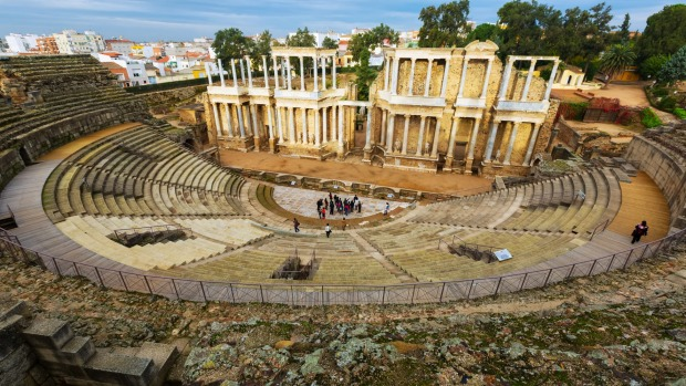 The Roman Theatre in Merida.