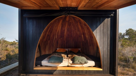 The sleeping pods.