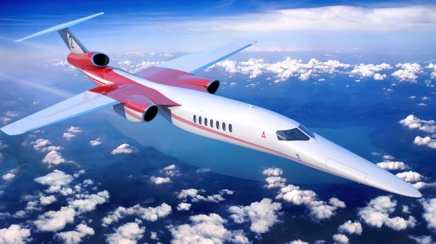The Aerion AS2 supersonic business jet will fly just below the speed of sound while travelling above land.