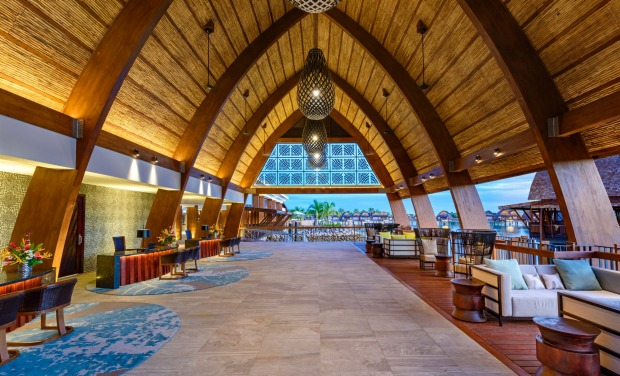The resort lobby and lounge.