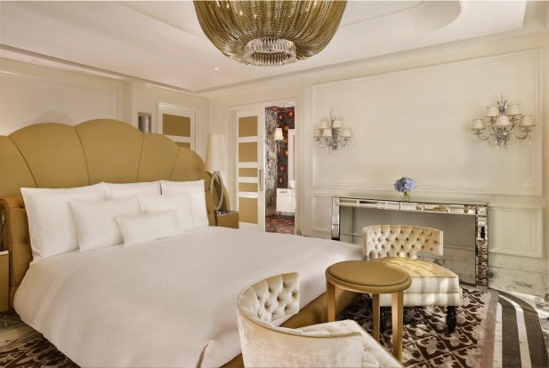 The Reverie Saigon, Vietnam  The design at the Reverie Saigon is seriously lavish – marble floors, chandeliers, ...