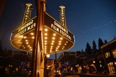 FILE - In this Jan. 18, 2017 file photo, the marquee at the Egyptian Theatre appears on the eve of the 2017 Sundance ...