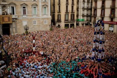 H25746 Barcelona, Catalonia, Spain. 24th Sep, 2016. Human towers (castell in catalan) are built in Barcelona. For The ...
