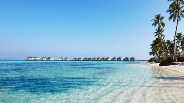 White sand, blue water paradise: The Maldives.