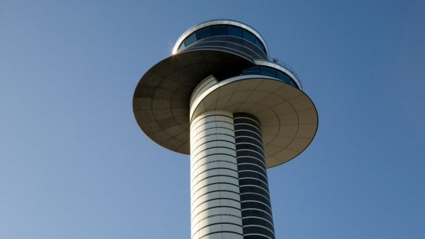 Do you read me? An airport control tower.