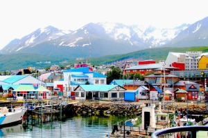 Colourful houses at the end of the world.