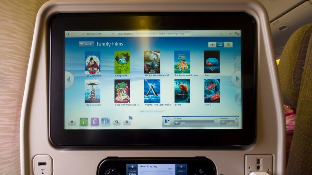 Entertainment units on places go a long way toward keeping passengers happy and distracted.
