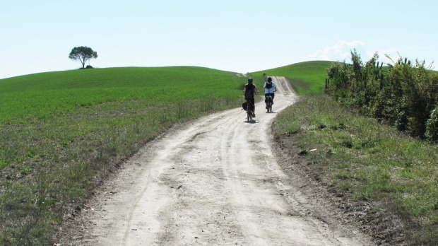 Cycling the Via Francigena.