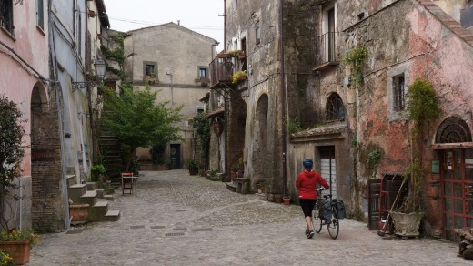 The old town of Formello.
