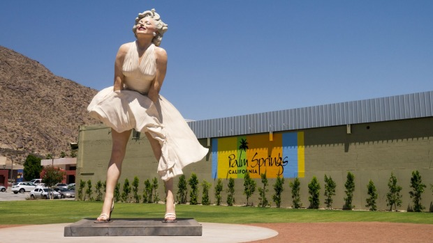 <i>Marilyn Monroe in Palm Springs.</i>