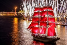 White Nights of St. Petersburg. Red Sails