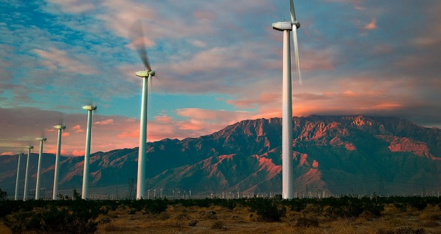 Palm Springs' iconic windmills.