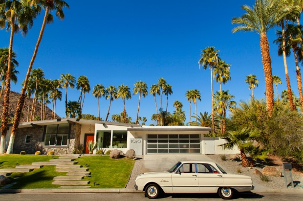 An example of mid century modern architecture in Palm Springs.