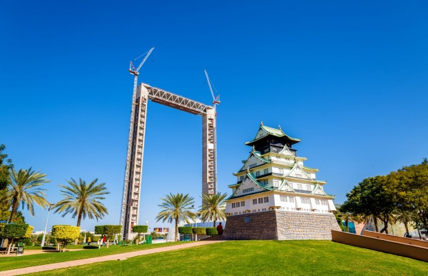 THE DUBAI FRAME, DUBAI: The 150-metre-high and 93-metre-wide Dubai Frame at Zabeel Park is designed to offer a view of ...