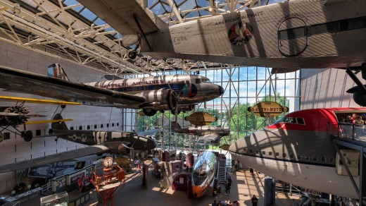 The Smithsonian's National Air and Space Museum.