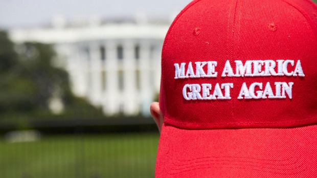 Make America Great Again caps are on sale at the White House.