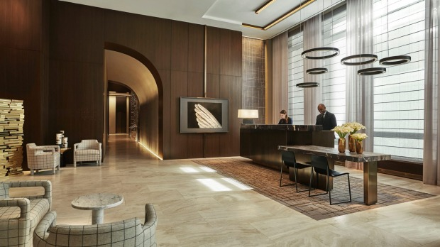 The Four Seasons' classic architectural profile hints at 1930s glamour.