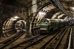 Like the Tube, but tiny: The London Postal Museum underground train.