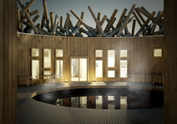 ARCTIC BATH, SWEDISH LAPLAND: This glorious structure on Luleriver at Harads, is free-floating in summer, and in winter, ...