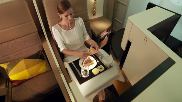 No.4 - Etihad Airways. Pictured: Business class on the 787 Dreamliner.