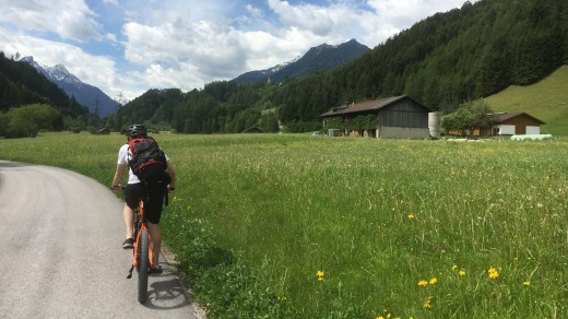 Heading for the village of Stubai, a small town that's filled with newly constructed houses and apartments.