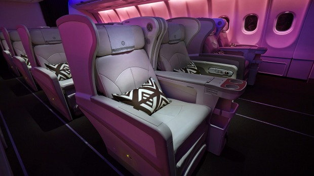 Fiji Airways Airbus A330-300 business class.