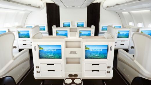 The business cabin contains 24 seats in a 2-2-2 configuration.