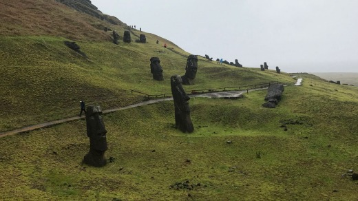 Maoi scattered at Rano Raraku.