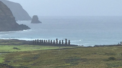 The view from the top of the hill at Rano Raraku.
