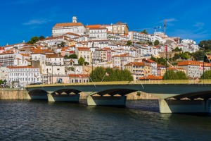 The ancient and photogenic town of Coimbra in Portugal.