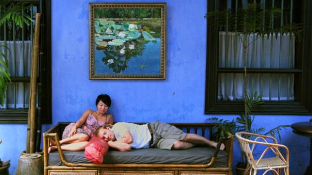 Dressed in blue ... Cheong Fatt Tze is also known as the Blue Mansion.