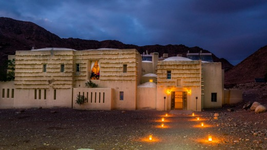 Feynan is completely off-grid and at night it's lit by hundreds of candles handmade by local Bedouin women.