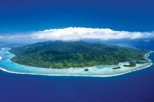 Island paradise ... the view from above.