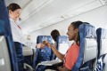 Flight attendants don't have to card US citizens on planes flying out of the US.